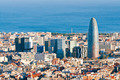 Aerial view of financial district in Barcelona - PhotoDune Item for Sale