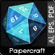 Twenty Faces Papercraft Dice - GraphicRiver Item for Sale