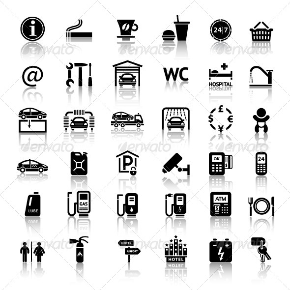 GraphicRiver Car Services 36 Icons 4118372