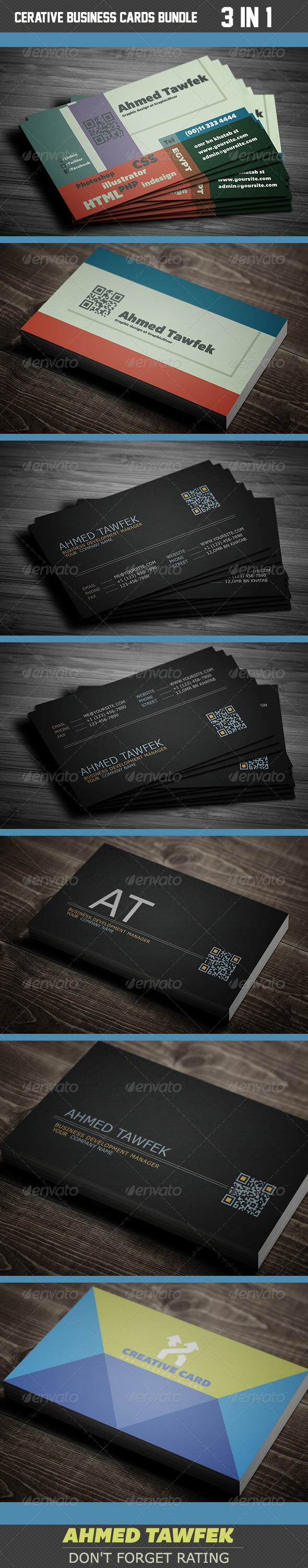GraphicRiver Cerative Business Cards Bundle 4118515