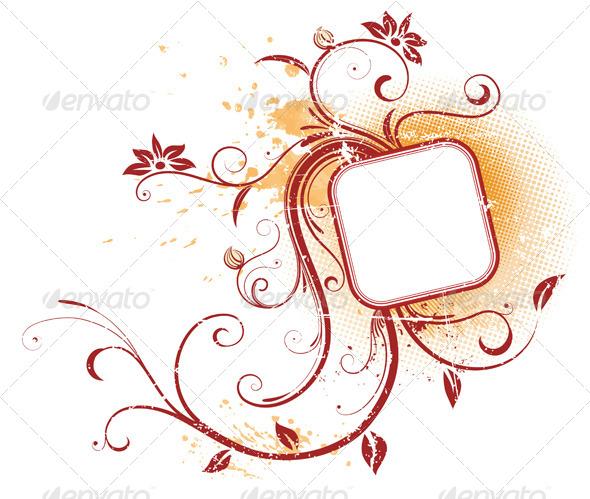 GraphicRiver Floral Frame 4118535