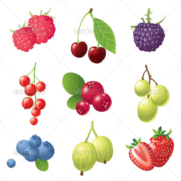 GraphicRiver Berries Icons 4118552