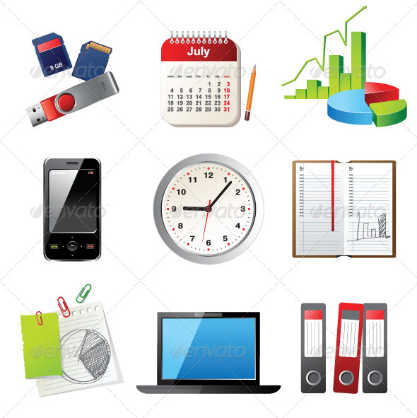 GraphicRiver Office Icons 4118643