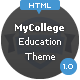 My College - Responsive Education HTML Template - ThemeForest Item for Sale