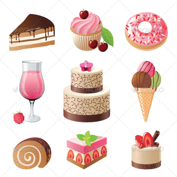 GraphicRiver Sweets and Candies Icons 4118732