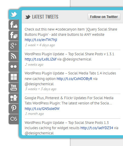 jQuery Social Media Tabs