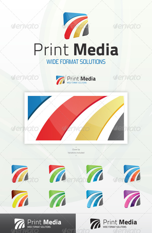 GraphicRiver Print Media Logo 4118978