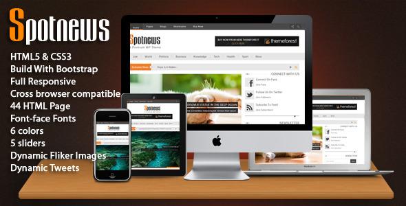 ThemeForest Spotnews Multi-Purpose Responsive Template 4034130