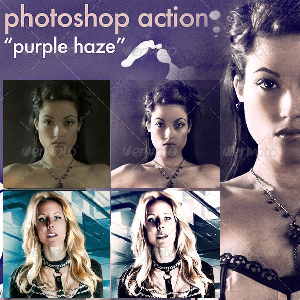 Photoshop Action &quot;Purple Haze&quot; - Photo Effects Actions