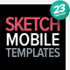 Mobile Sketching &amp;amp; Wireframing Templates - GraphicRiver Item for Sale