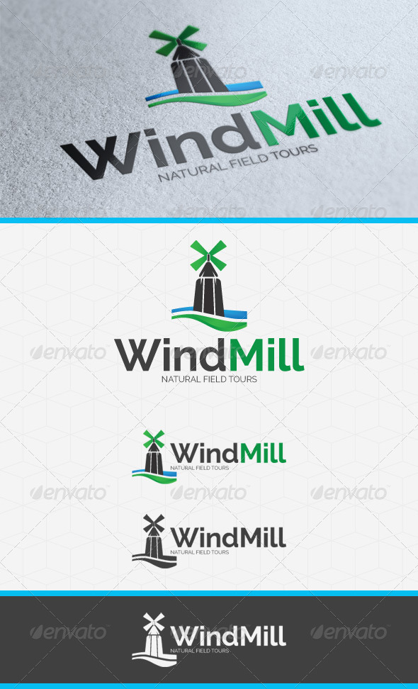 GraphicRiver WindMill Logo Template 3871897