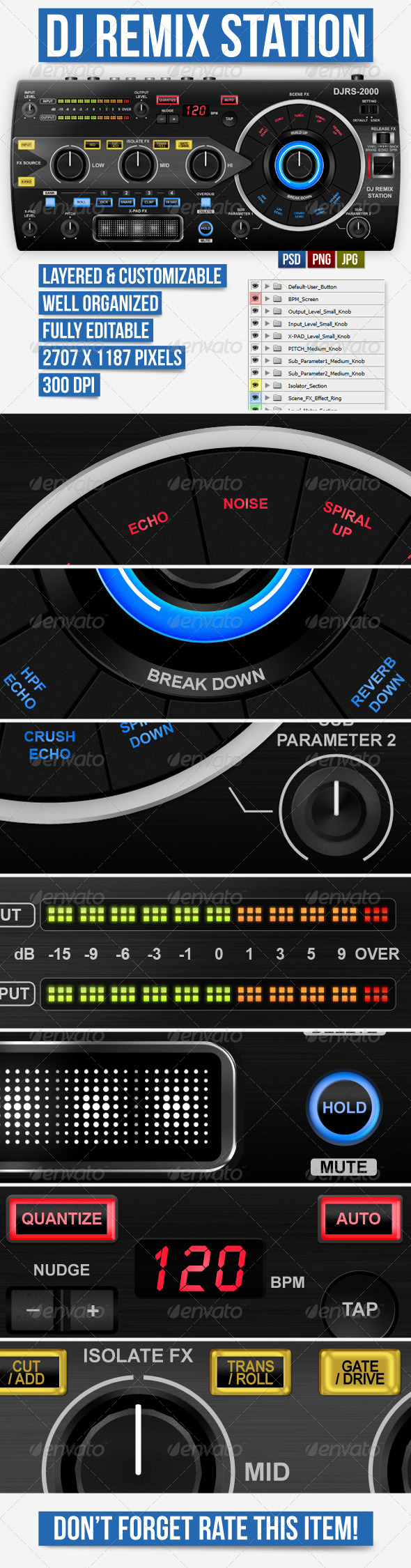 DJ Remix Station UI - User Interfaces Web Elements