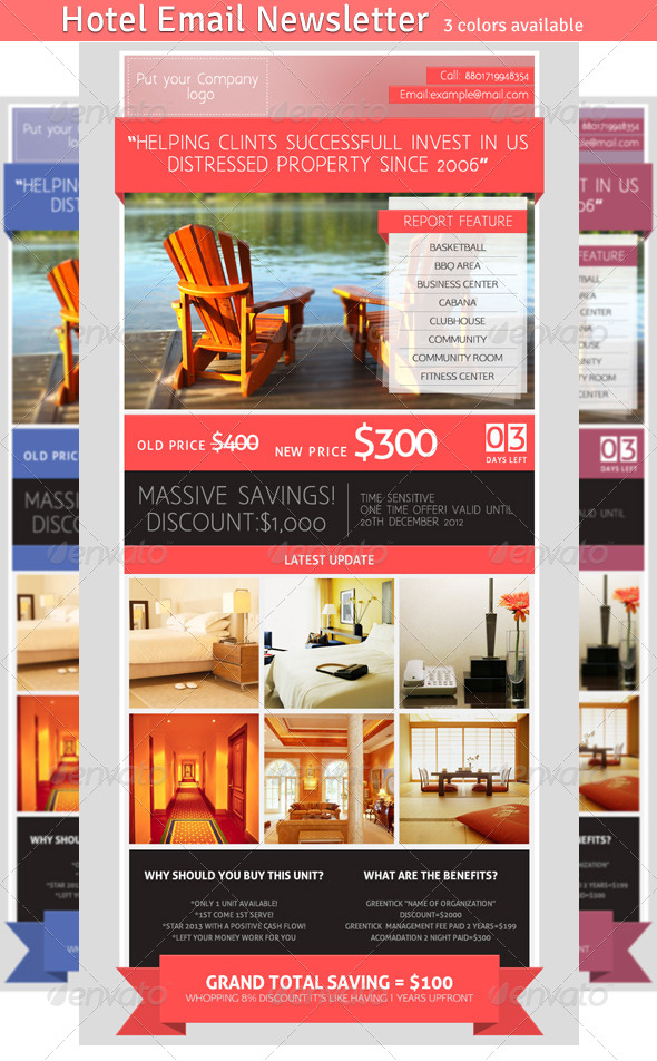 GraphicRiver Hotel Email Newsletter 4122267