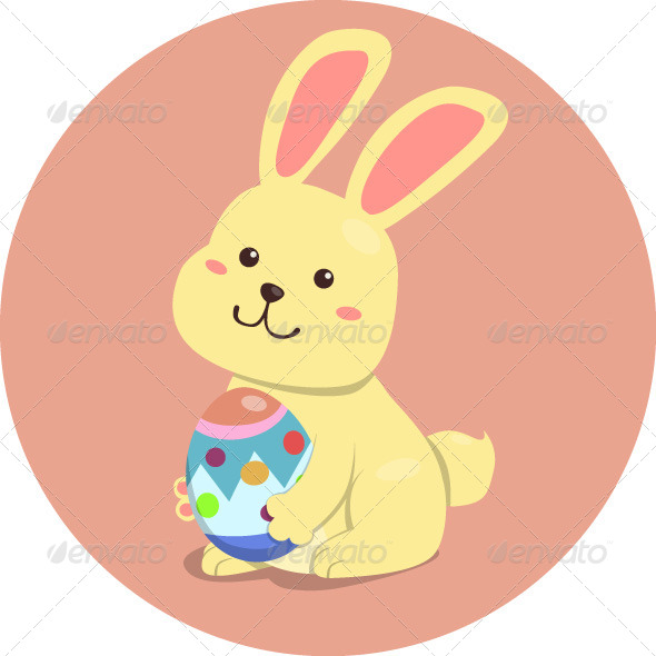 GraphicRiver Easter Rabbit Holding Egg 4122639
