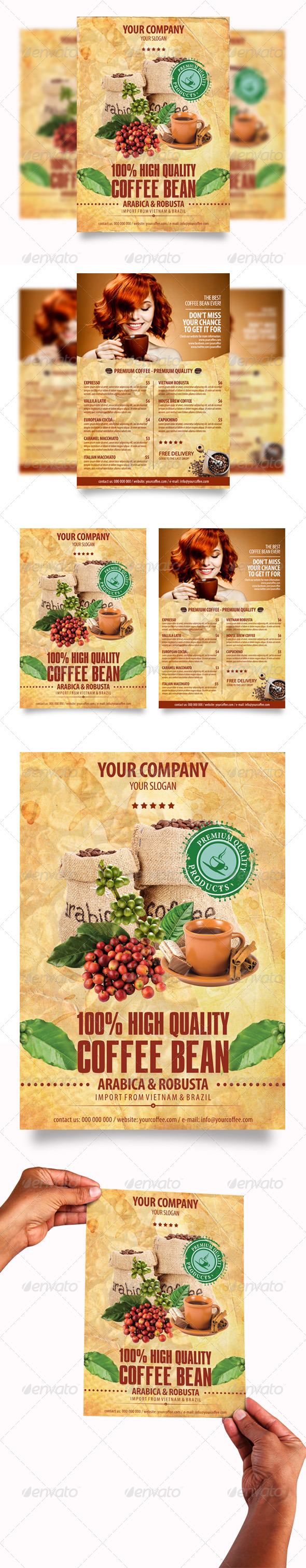 GraphicRiver Coffee Flyers 4124024