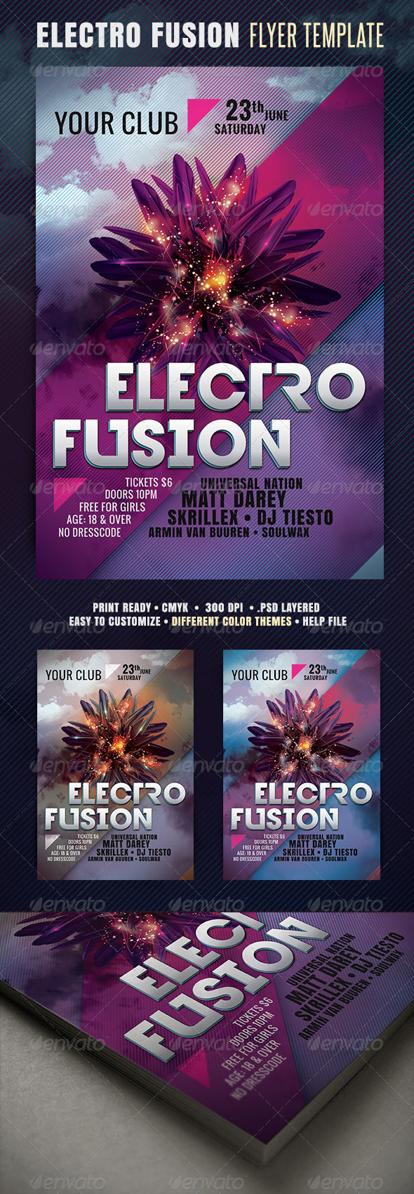 GraphicRiver Electro Fusion Flyer 3985652