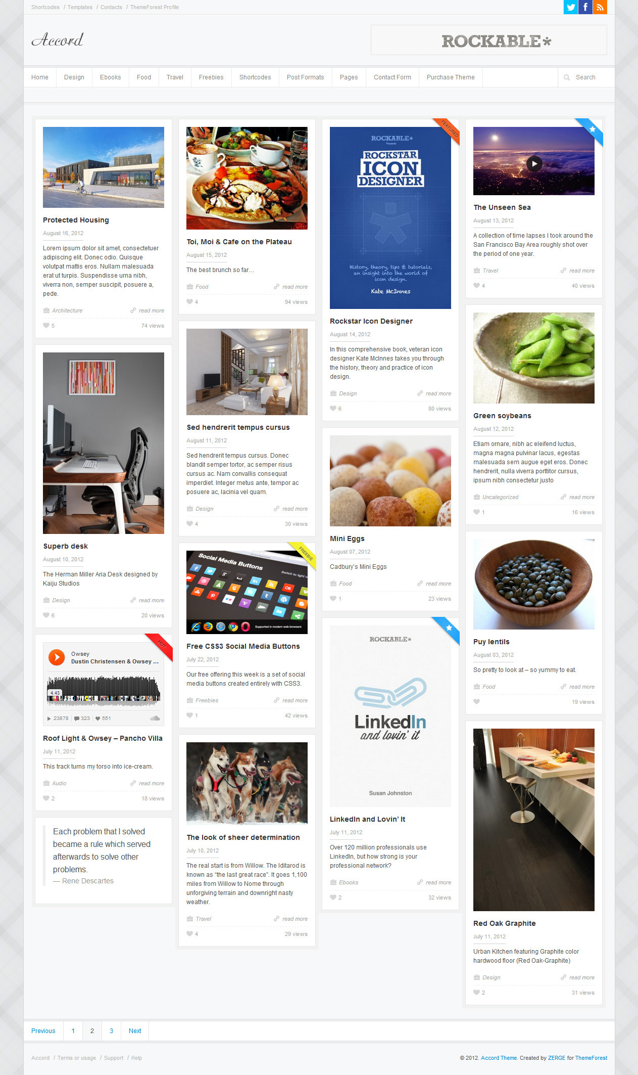 Accord - Responsive WordPress Blog Theme - Home Page 2