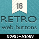 Retro Vintage Web Buttons - GraphicRiver Item for Sale