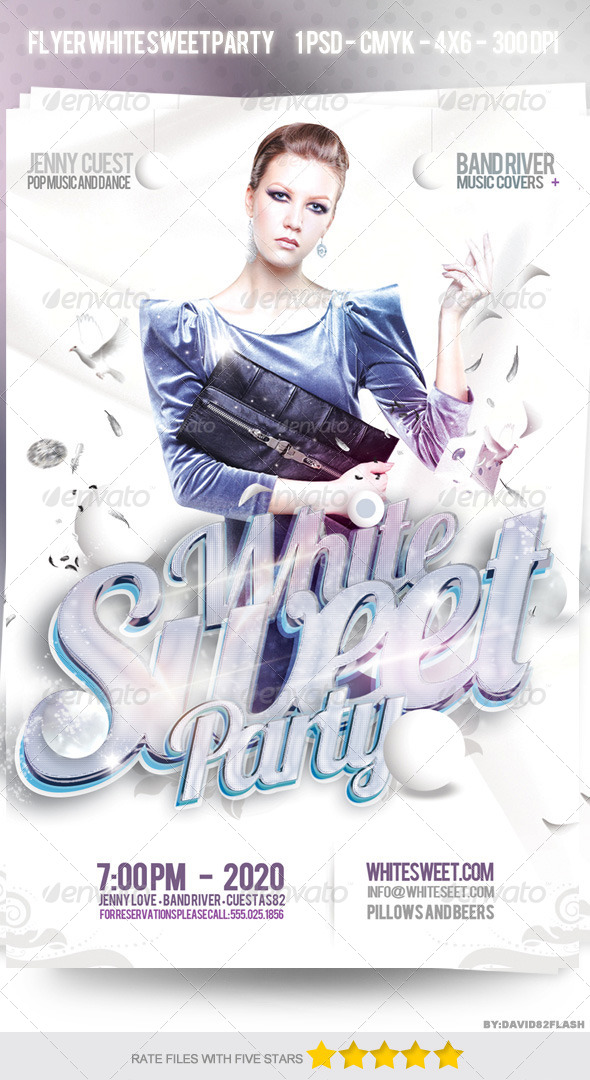 Flyer Party White Sweet - Clubs & Parties Events