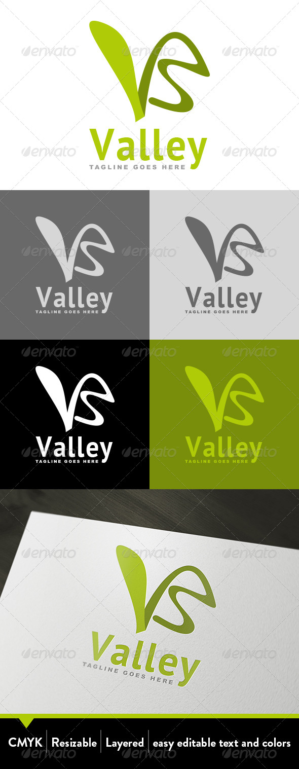 GraphicRiver Valley Logo 4058430