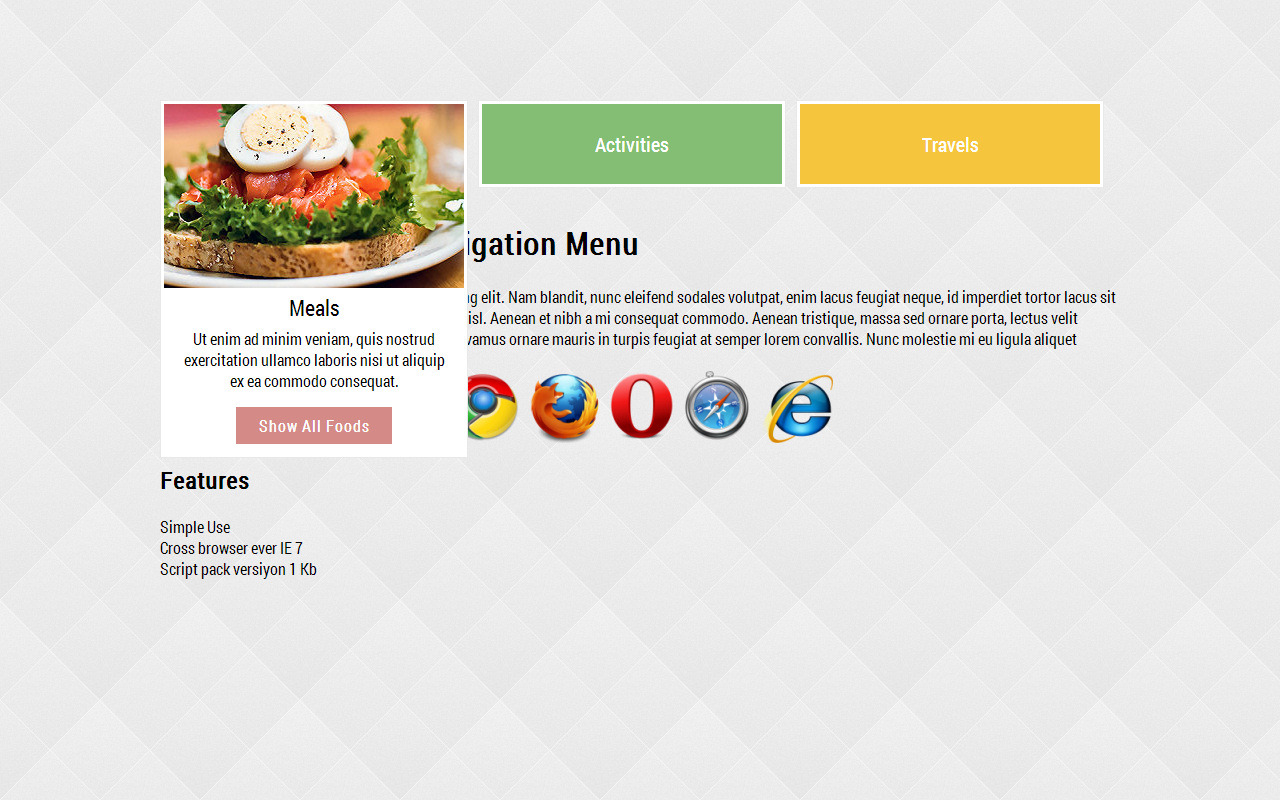 Colorful Animated Navigation Menu