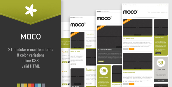 MOCO – 21 modular newsletter templates