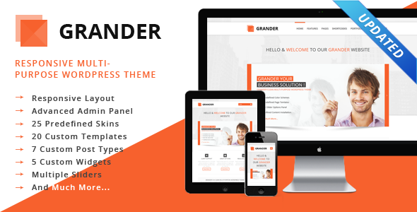GRANDER - Responsive Multipurpose WordPress Theme