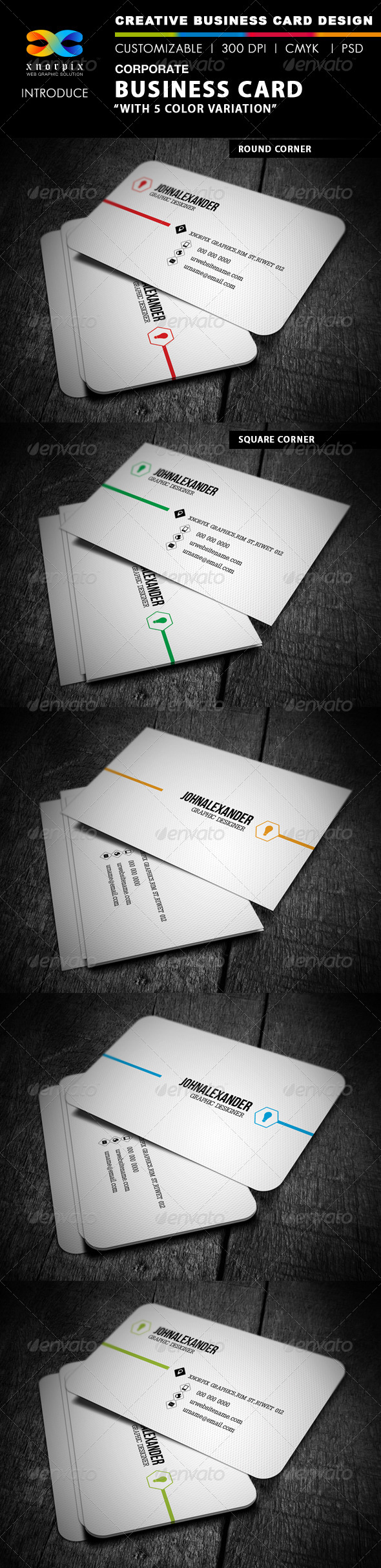 GraphicRiver Corporate Business Card 4008402