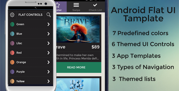 Android Flat UI Template - CodeCanyon Item for Sale