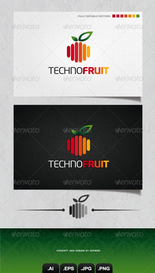 GraphicRiver Techno Fruit Logo 4057731