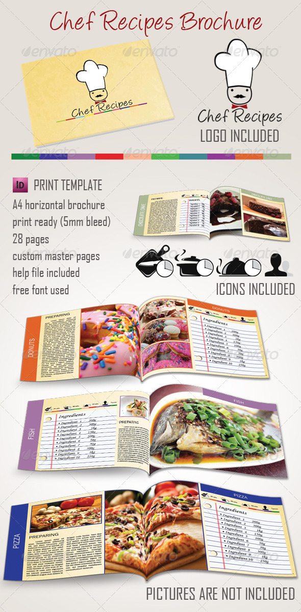GraphicRiver Chef Recipes Brochure 3988968