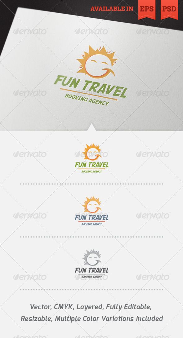 GraphicRiver Fun Travel Logo Template V2 4058072