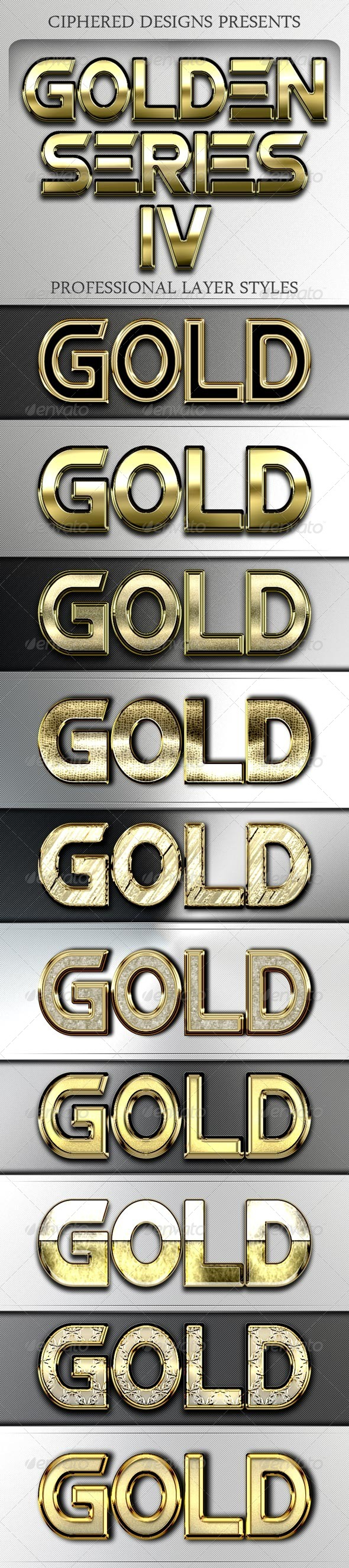 GraphicRiver Golden Series IV Professional Layer Styles 4130293
