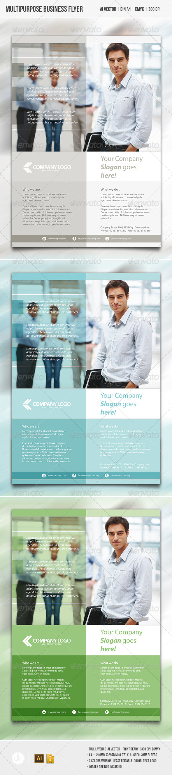 GraphicRiver Multipurpose Business Flyer 4130335