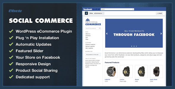 Social Commerce WordPress Plugin - CodeCanyon Item for Sale
