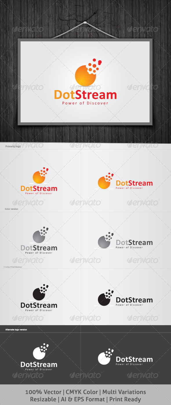 Dot Stream Logo - Objects Logo Templates