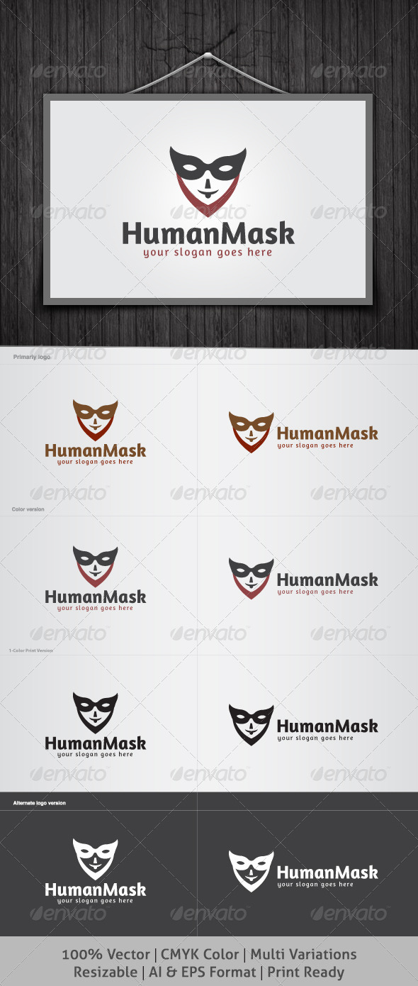 Human Mask Logo - Humans Logo Templates