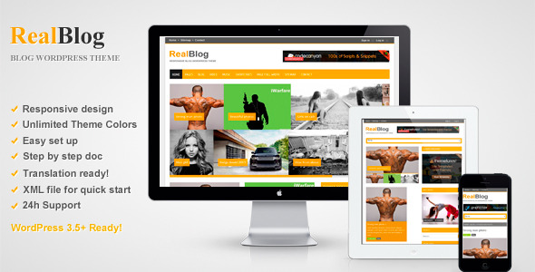 RealBlog - Responsive WordPress Blog Theme