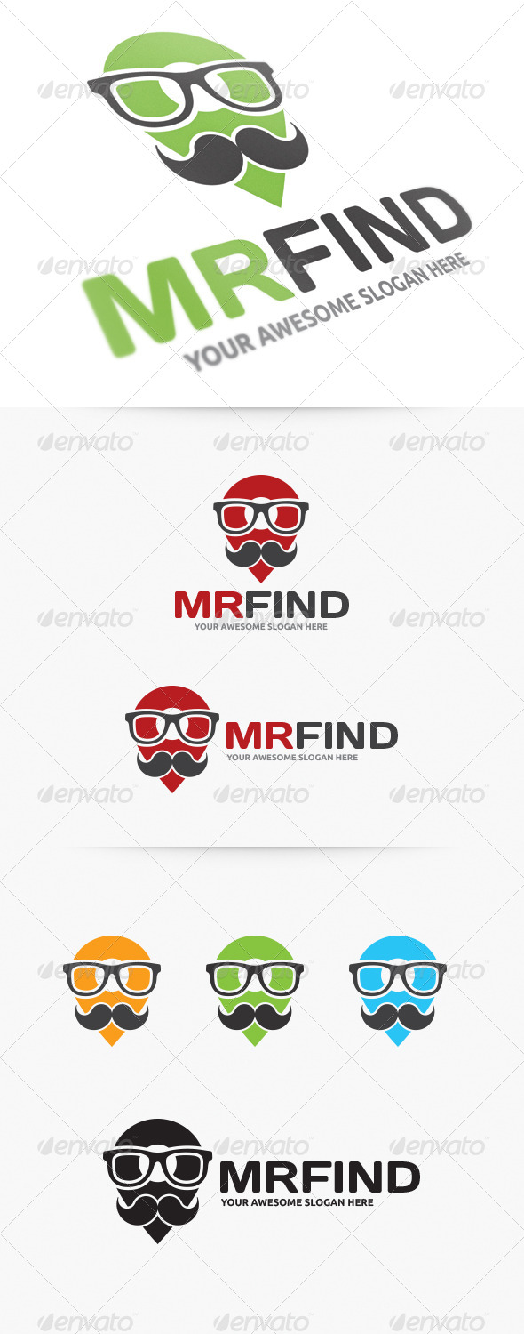 GraphicRiver Mister Find Logo 4132106