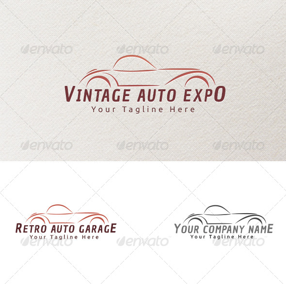 GraphicRiver Vintage Cars Logo Template 4132279
