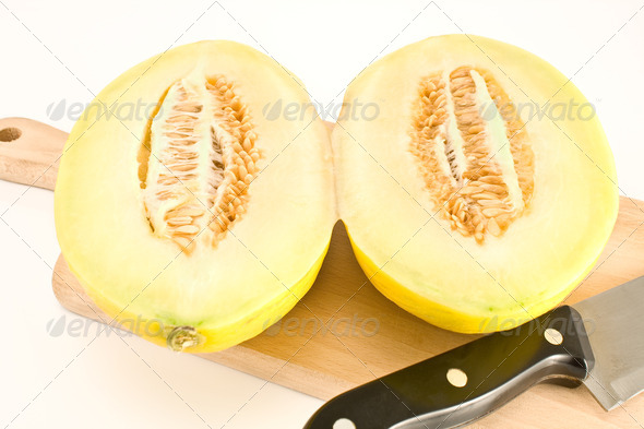 PhotoDune Cantaloupe melon sliced on wooden board 4133275