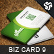 Business Card Design 9 - GraphicRiver Item for Sale