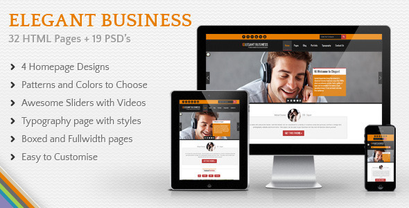 Elegant Business - Multi Purpose Responsive HTML - Corporate Site Templates