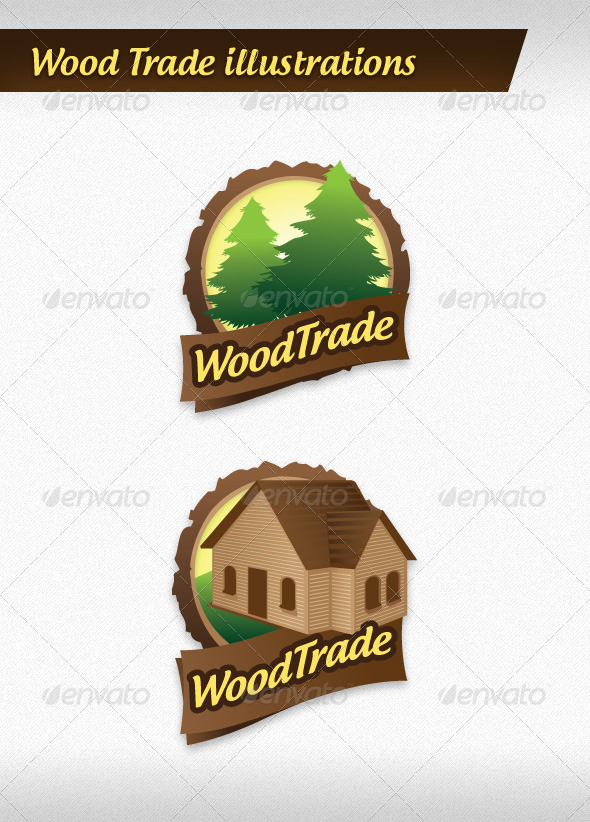 GraphicRiver Wood Trade Illustrations 4133744