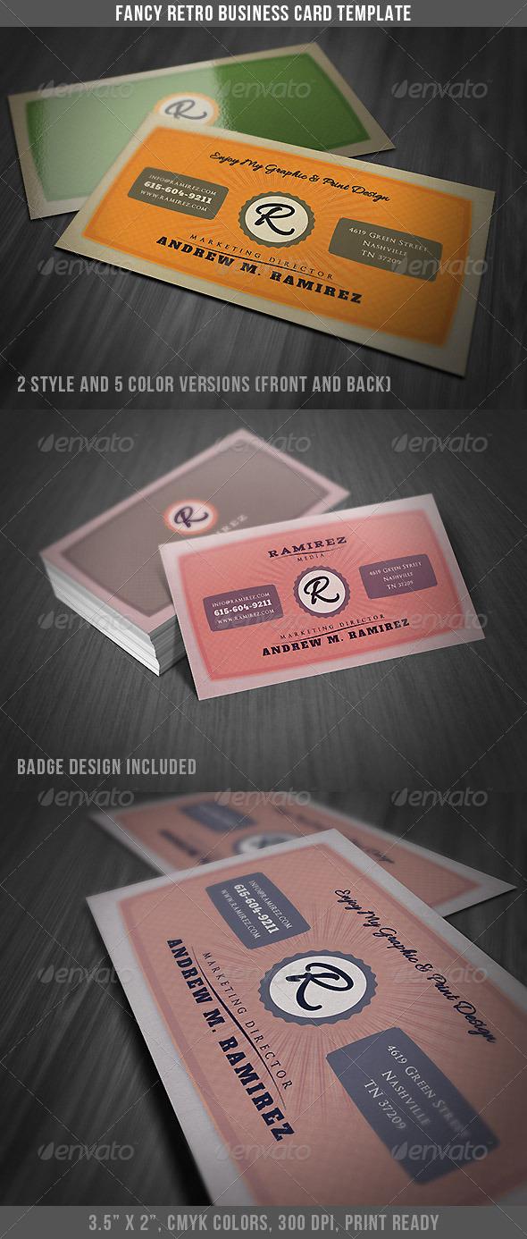 GraphicRiver Fancy Retro Business Card 4133774