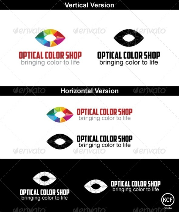 GraphicRiver Optical Color Shop Logo Design 4134039