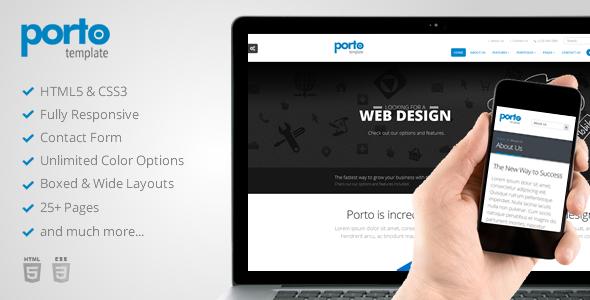 ThemeForest Porto Responsive HTML5 Template 4106987