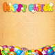 Happy Easter Card Decorative Background - GraphicRiver Item for Sale
