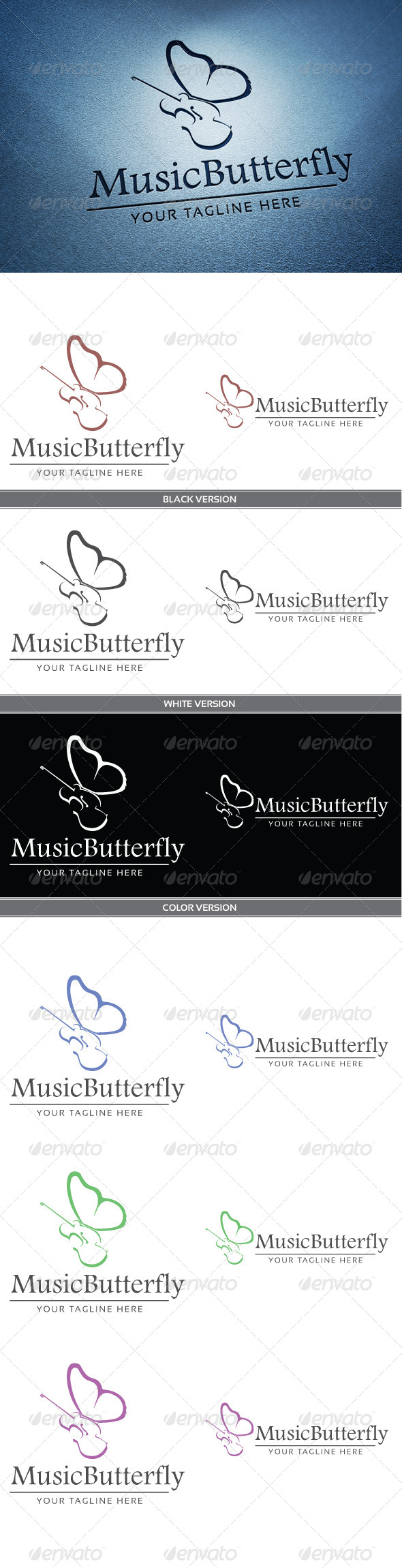 GraphicRiver Music butterfly 4136289