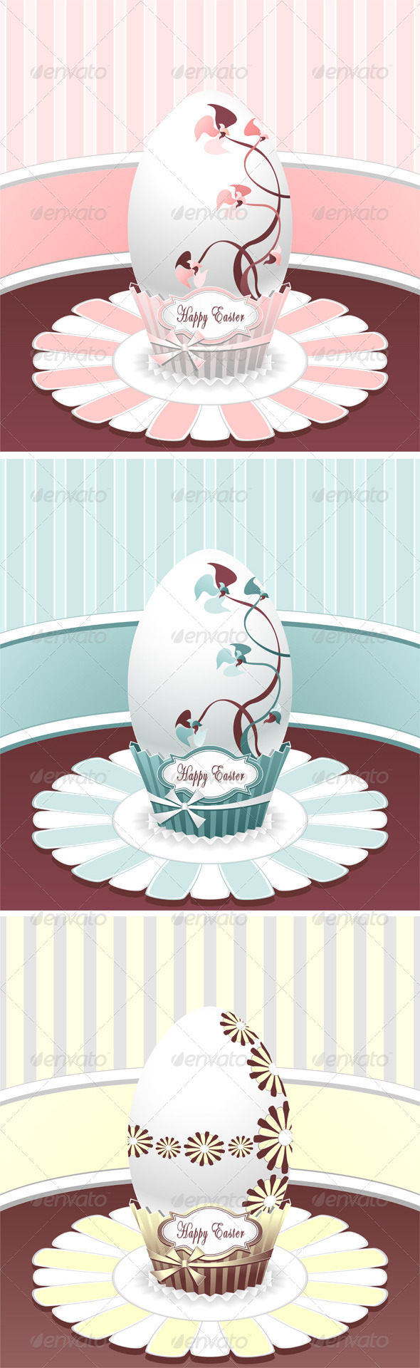 GraphicRiver Set Style Easter Egg 4136476